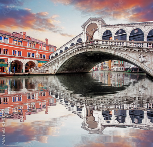 Poster Venice Venice - Rialto bridge and Grand Canal