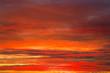 Fiery orange sunset sky. Apocalyptic sky