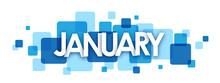 """""""JANUARY"""" Vector Letters Icon"""
