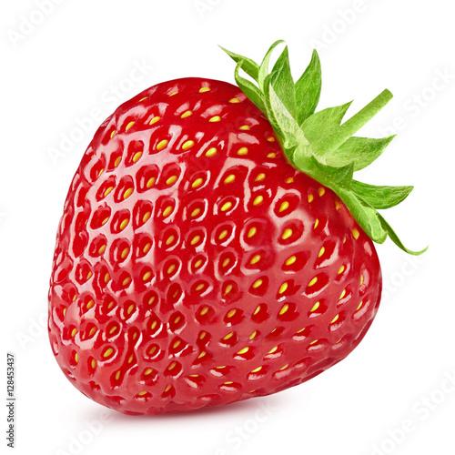 Foto op Aluminium Vruchten Strawberry isolated on white