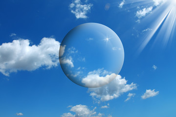 an image of sky and bubles