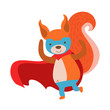Squirrel Animal Dressed As Superhero With A Cape Comic Masked Vigilante Character
