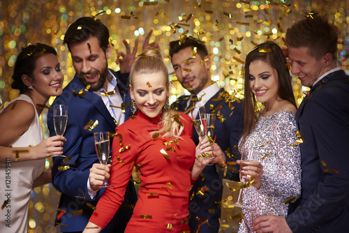 Obraz New years party is being celebrated - fototapety do salonu