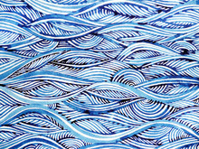 Blue Wave Minimal Watercolor P...