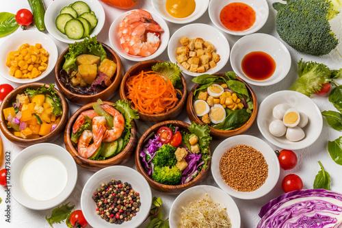 Tuinposter Grill / Barbecue サラダ Salad