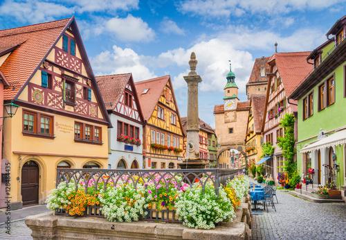 Valokuva Medieval town of Rothenburg ob der Tauber, Bavaria, Germany