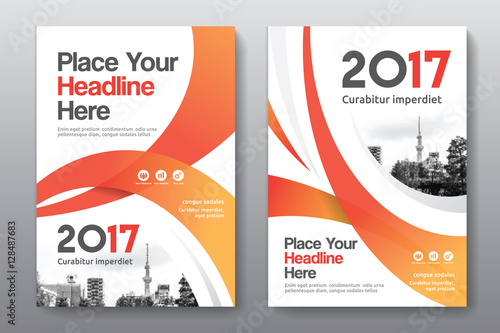orange color scheme with city background business book cover design
