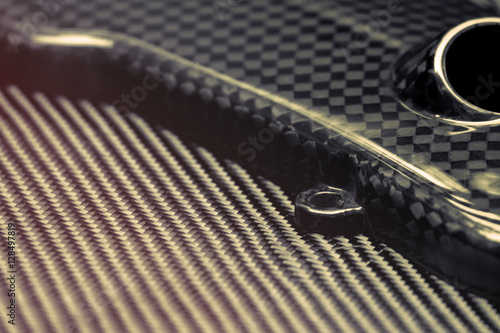 Photographie  Carbon fiber composite raw material background
