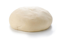Ball Of Raw Dough Isolated On White Background