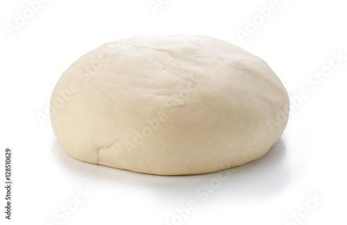 Fotografija Ball of raw dough isolated on white background