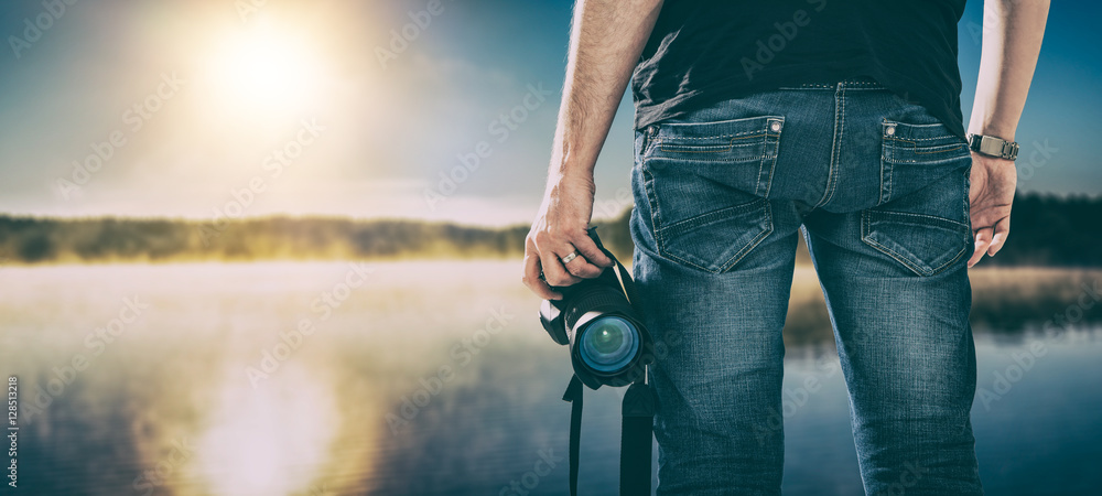 Fototapeta photographer photographic camera dslr photo person passion outdo