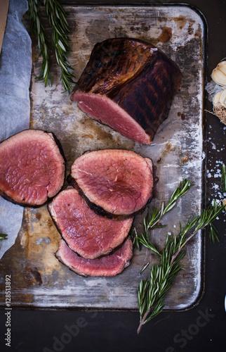Beef tenderloin steak Wallpaper Mural