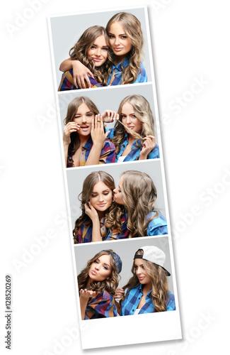 Fotografie, Obraz  Instant photos.Female friends