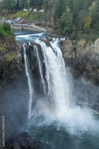 Aluminium Prints Forest river Waterfall Landscape 3