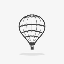 Icon Hot Air Balloon Gray Shad...