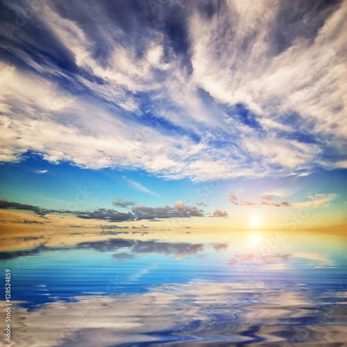 Beautiful seascape background.