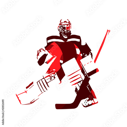 Ice Hockey Goalie Abstract Vector Silhouette Buy This Stock