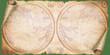 Altes Papier, Papyrusrolle mit historischer Landkarte als Hintergrund