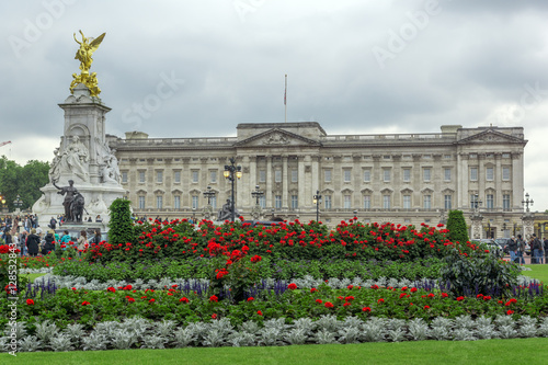 Panorama of Buckingham Palace in London, England, Great Britain Canvas Print