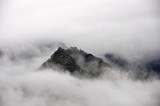 mountains covered with fog, Iceland - 128535611