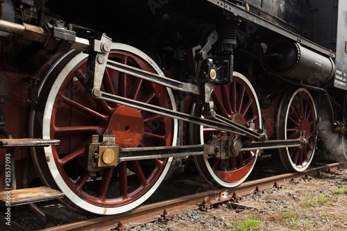 Part of vintage steam train Fototapet