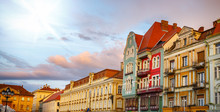 Colorful Houses In Timisoara A...