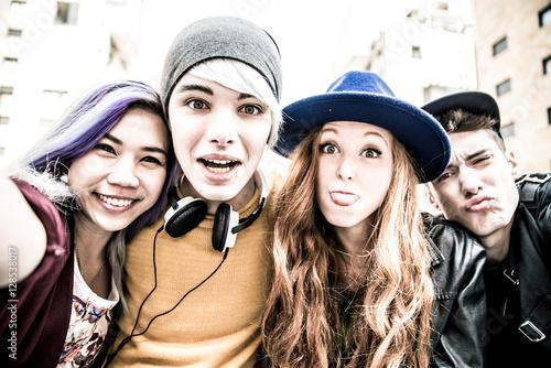 Fotomural  Teenagers portrait