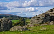 Rocks Of Hound Tor On Dartmoor...