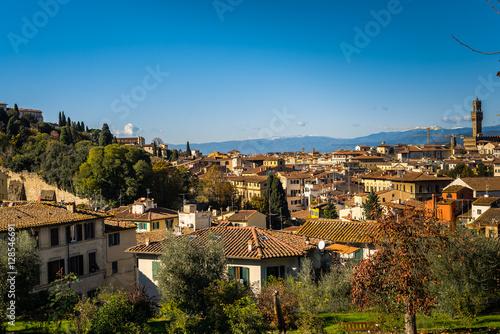 Naklejka premium Panorama miasta florencja włochy