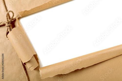Zdjęcie XXL Poszarpany brown papieru pakunku tło