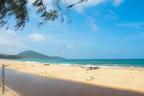 Fotobehang Oceanië Mai Khao Beach.