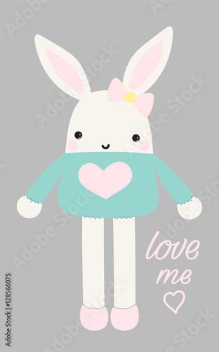 śliczny królika wektor, ilustracja