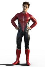 3d CG Illustration Of Super He...