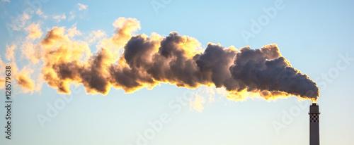 Foto Luftverschmutzung durch Abgase der Industrie