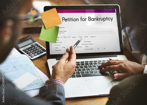 Fotografía Petition Bankruptcy Debt Loan Overdrawn Trouble Concept