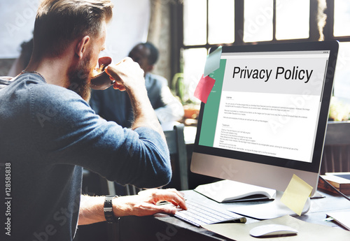 Fotografía  Privacy Policy Information Principle Strategy Rules Concept