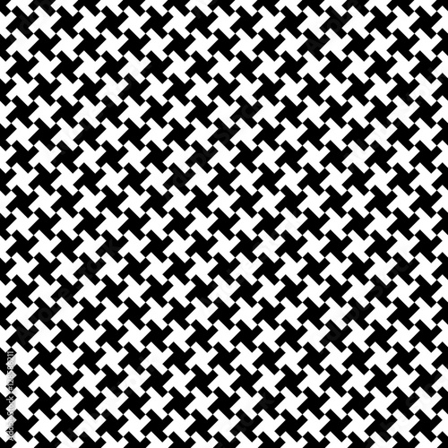 Photo  Houndstooth fabric pattern, vector seamless pattern