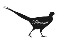 Vector Illustration: Silhouette Of Pheasant Isolated On White Background.