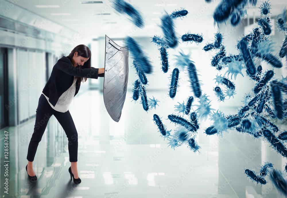 Fototapeta 3D Rendering attack of bacteria