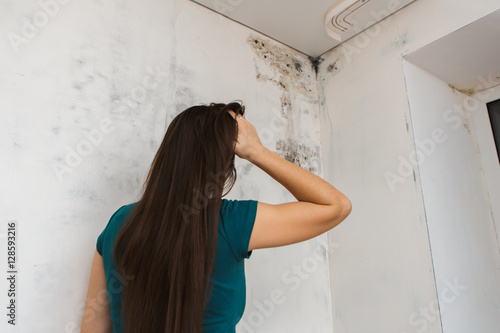 she discovered black mold house. Canvas Print