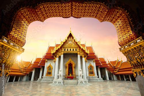 Poster Lieu connus d Asie The Marble Temple, Wat Benchamabopitr Dusitvanaram Bangkok Thailand