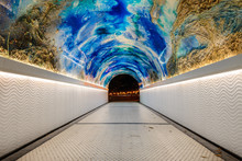 The Tunnel Of Miramar In Donostia-San Sebastia, Spain
