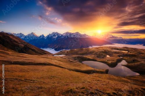 Deurstickers Oranje eclat Fantastic mountain landscape