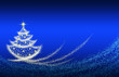 Leinwanddruck Bild - Christmas tree lights background.