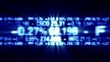 Blue stock market data digital ticker animation