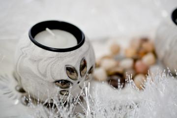 Obraz na płótnie Canvas Decorative Christmas candles