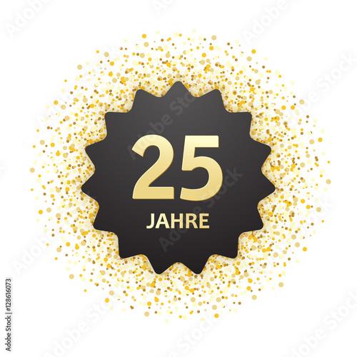 Poster  25 Jahre Jubiläum Karte