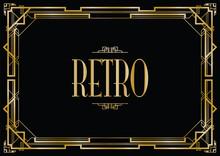 Retro Art Deco Invitation