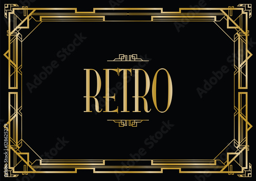 Photo  retro art deco invitation