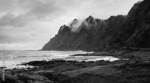 Foto op Plexiglas Kust Dramatic Coast on Andoya, Vesteralen, Norway